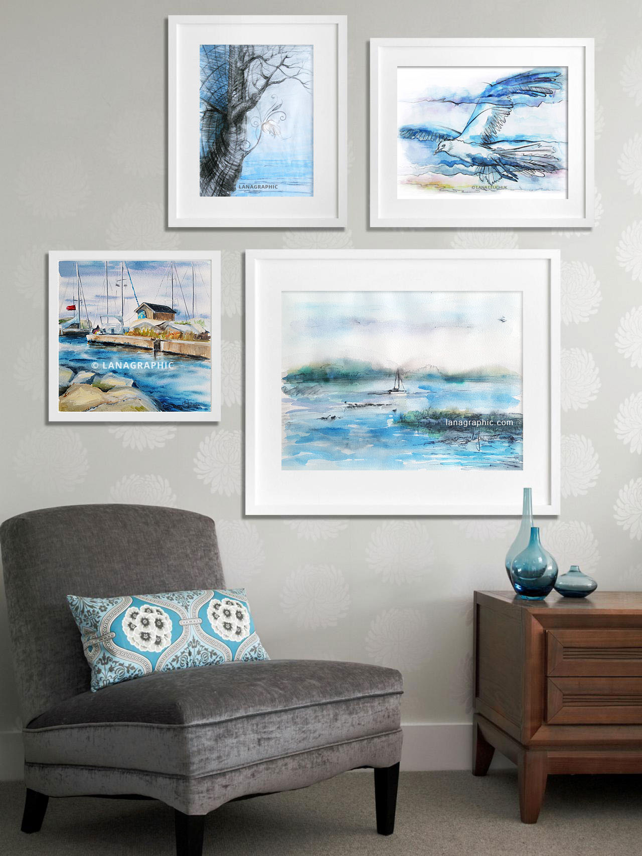 Gallery-Wall-paintings-by-Lanagraphic-Sea