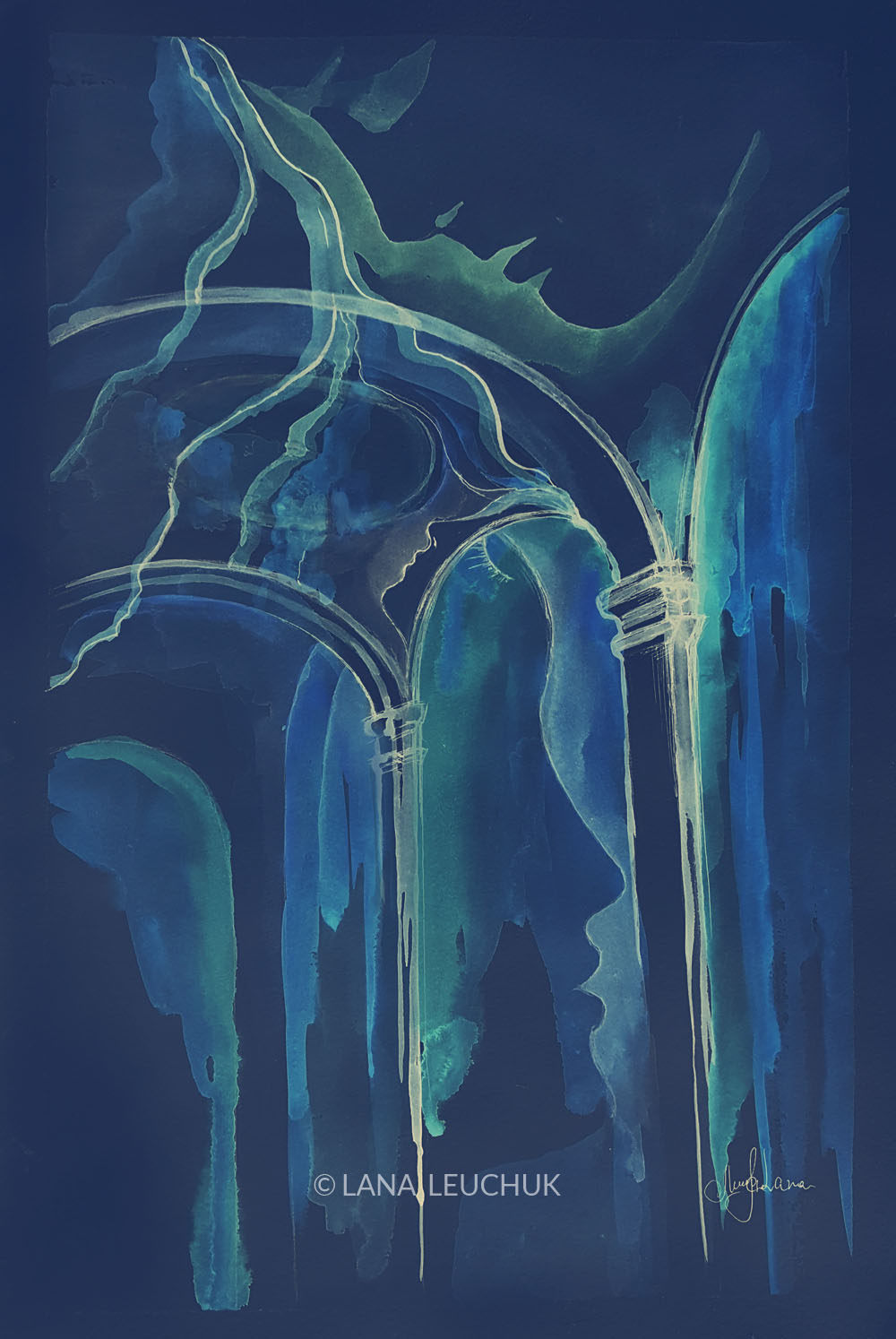 artwork-by-Lana-Leuchuk-arches-and-faces-blue-sm