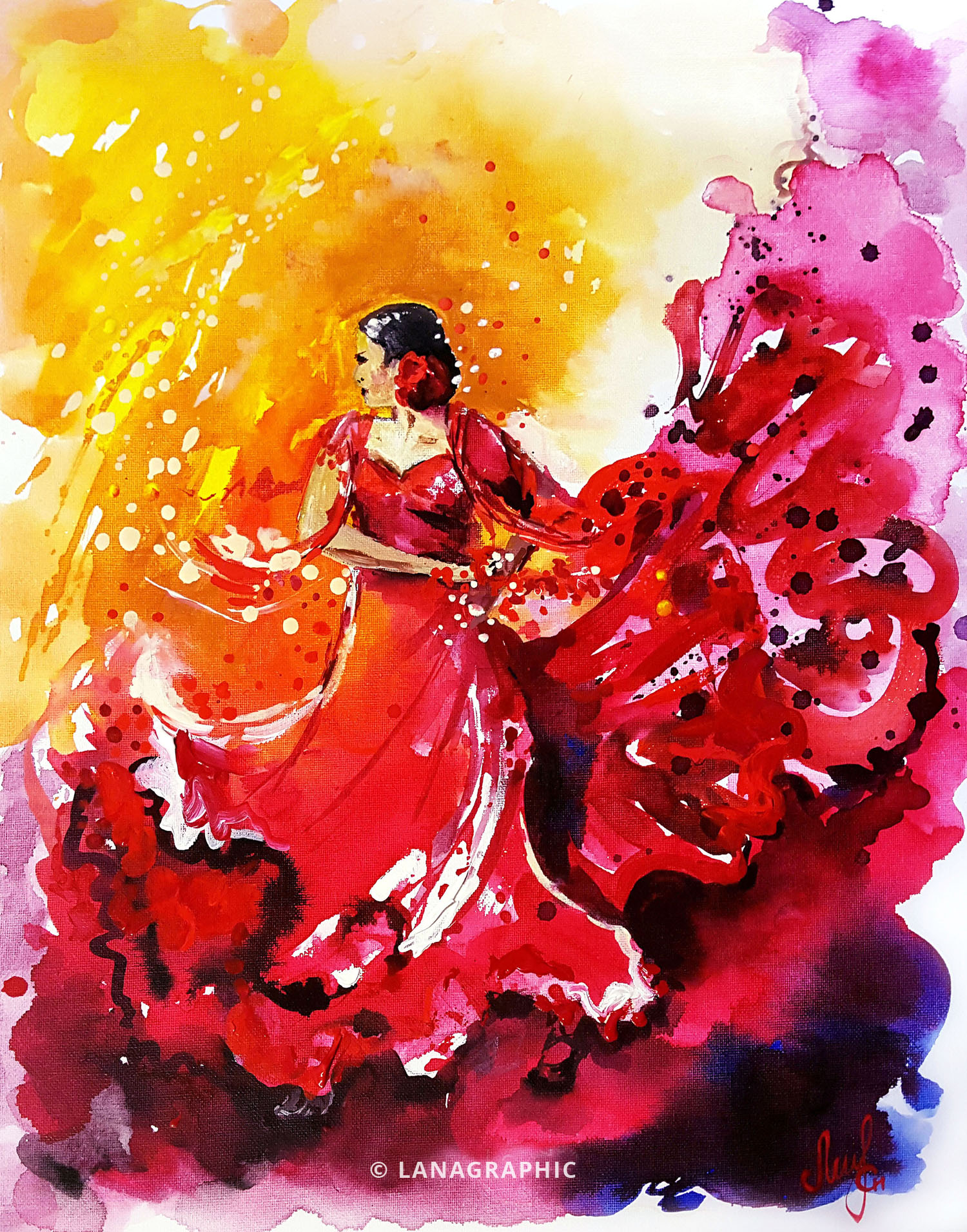 Rhythms of passion and joy-painting-by-Lanagraphic