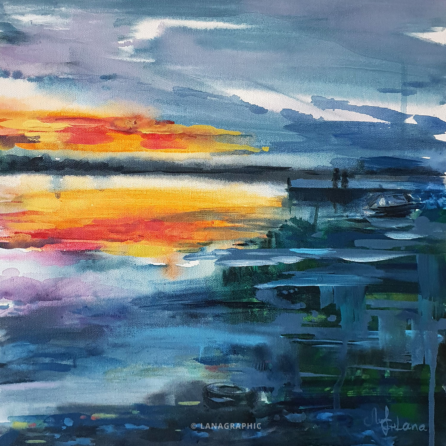 artwork-by-Lanagraphic-the sky touches the sea-painting