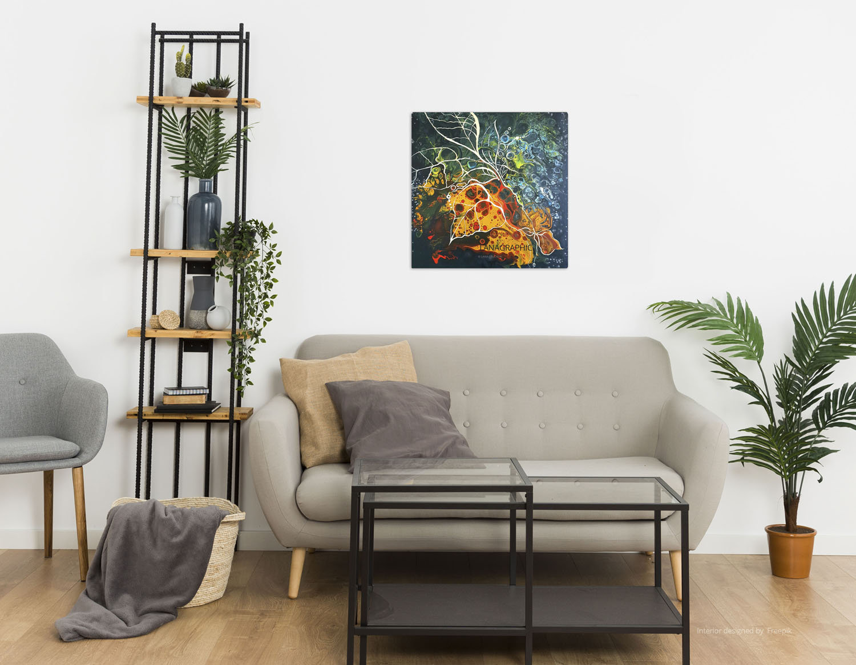 artwork-in-interior-Autumnal Retreat-by-lana-leuchuk-Lanagraphic-