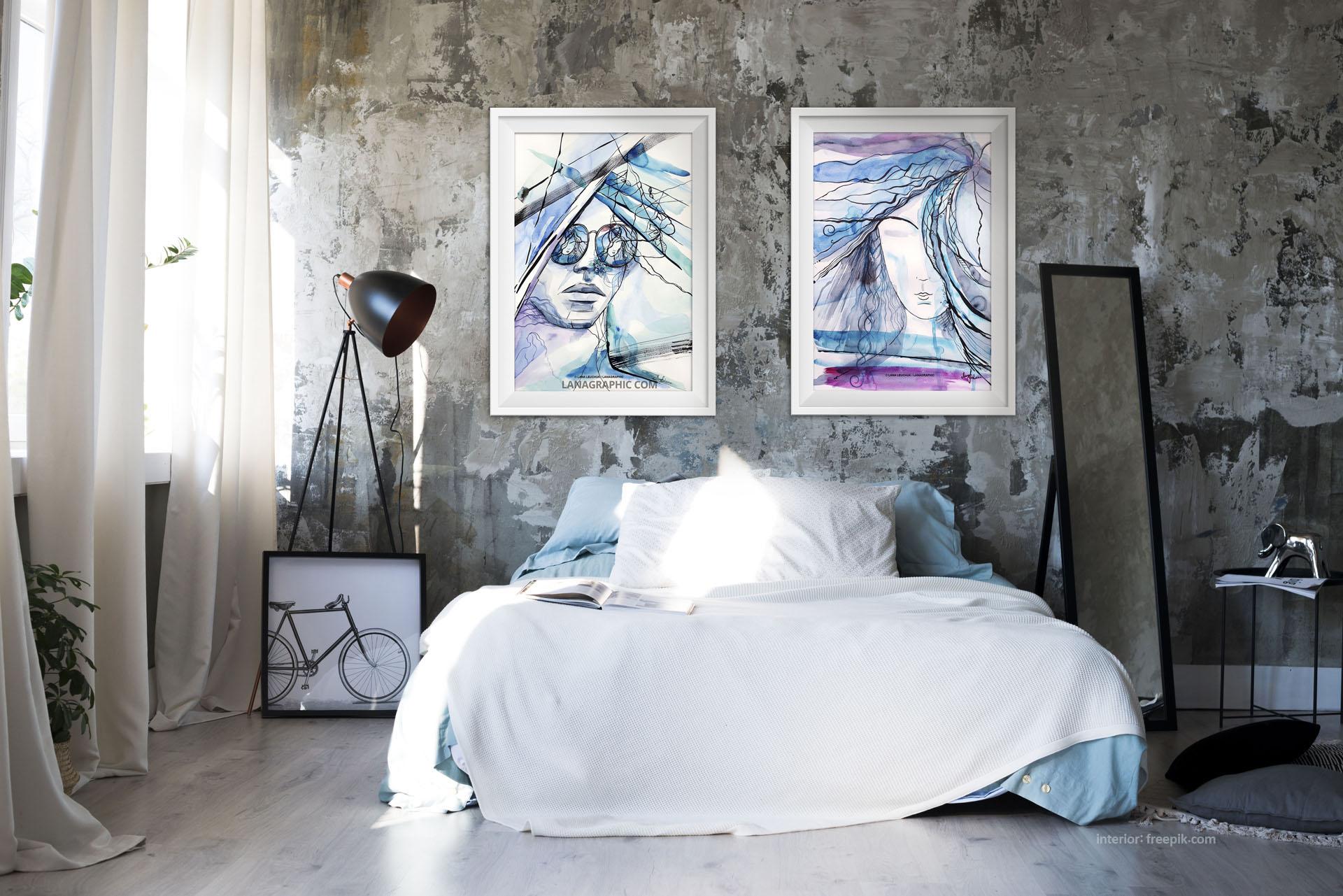 artwork-in-interior-art by Lana Leuchuk-lanagraphic